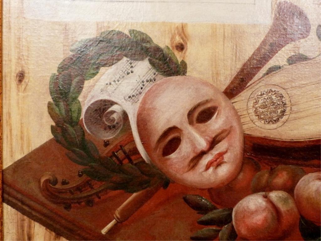 Italian School Oil on Canvas - Trompe L'Oeil - 4