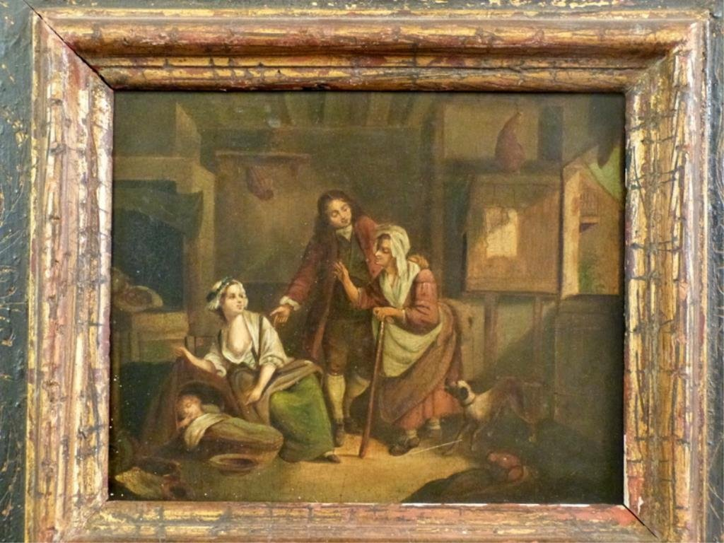 Unsigned - Antique Oil on Tin