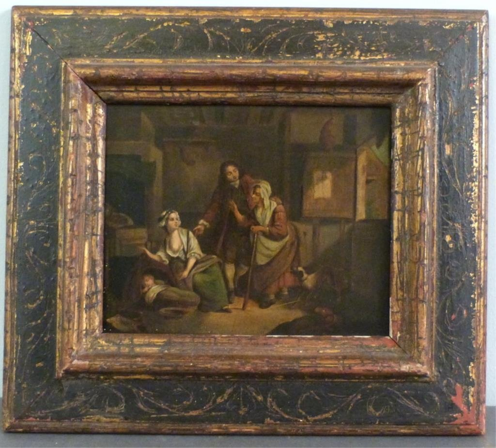 Unsigned - Antique Oil on Tin - 2