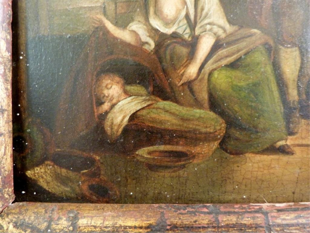 Unsigned - Antique Oil on Tin - 4