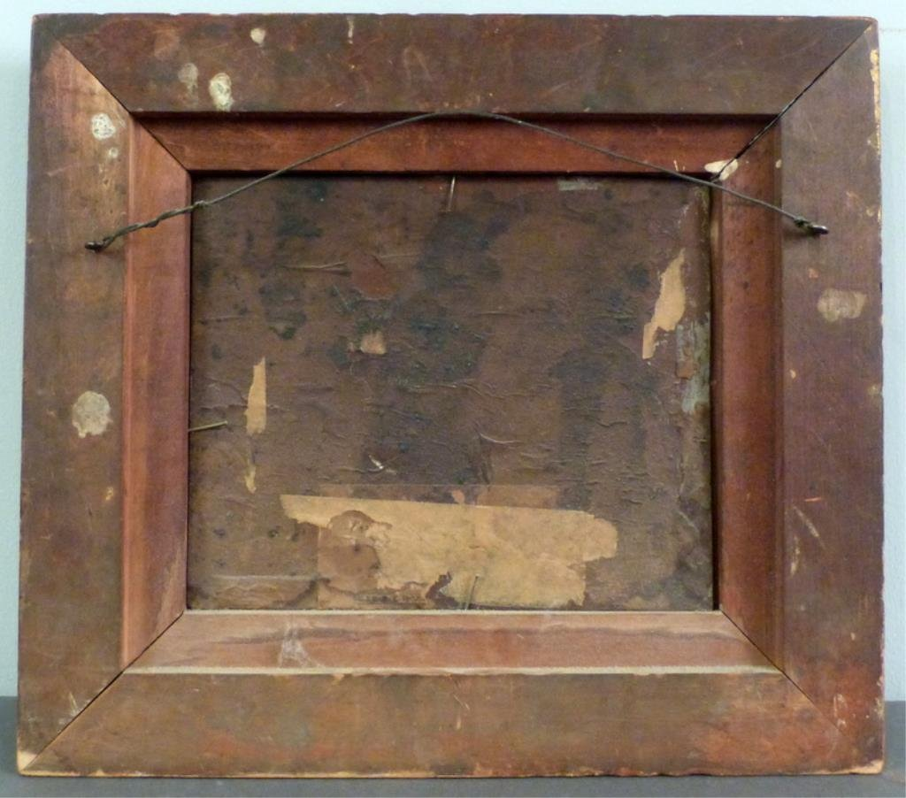 Unsigned - Antique Oil on Tin - 6