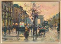 Edouard Cortes (French 1882-1969) - Oil on Canvas