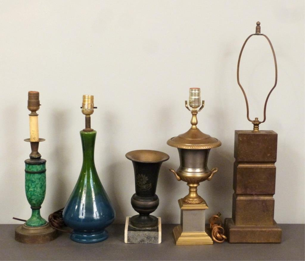 5 Assorted Lamp Bases and Decor