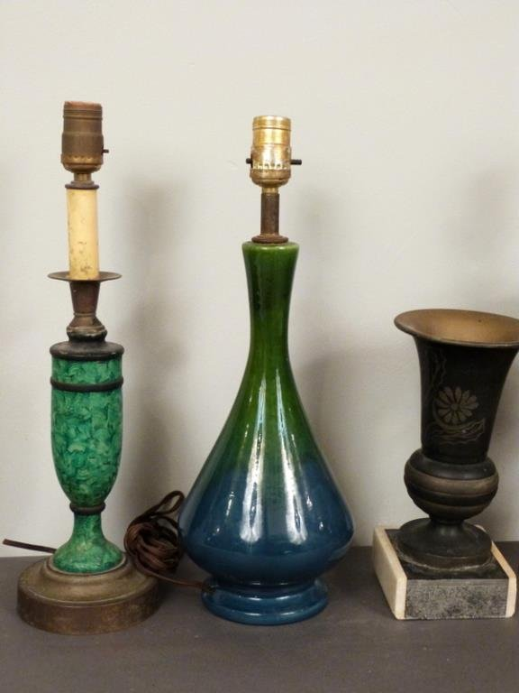 5 Assorted Lamp Bases and Decor - 2