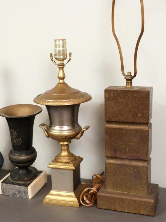 5 Assorted Lamp Bases and Decor - 3