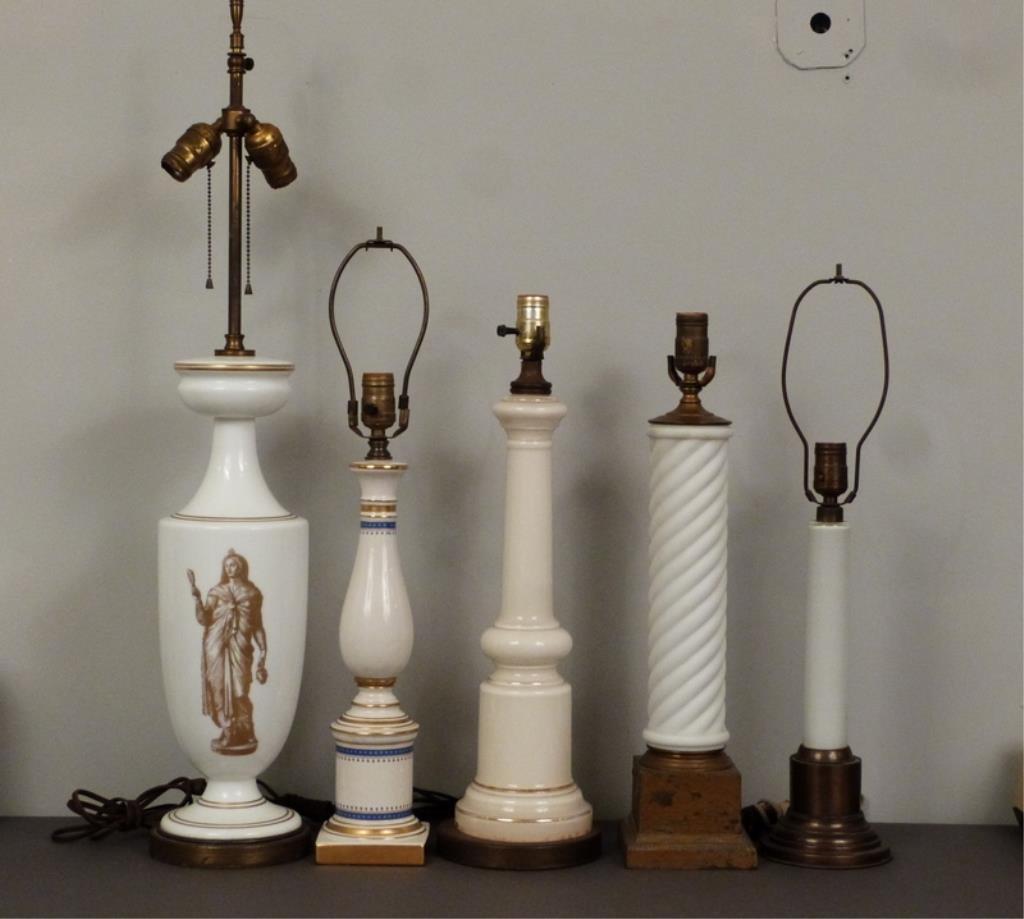 5 Assorted Columnar Lamps