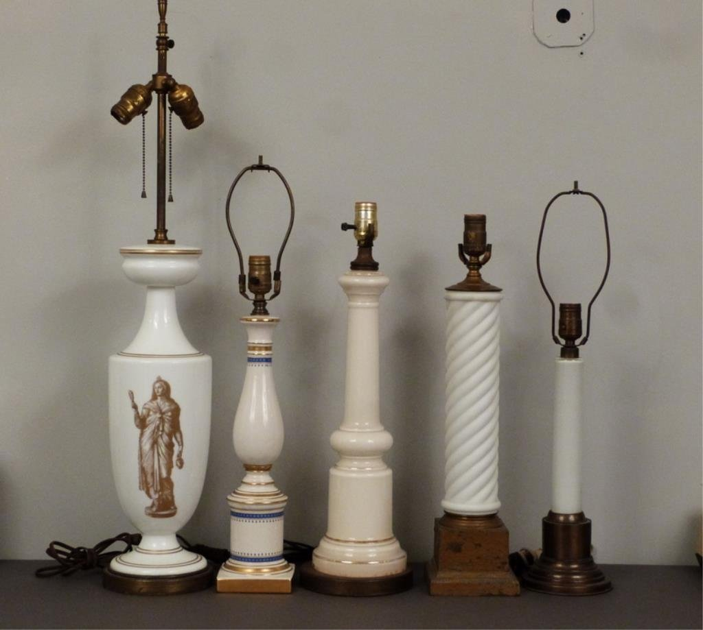 5 Assorted Columnar Lamps