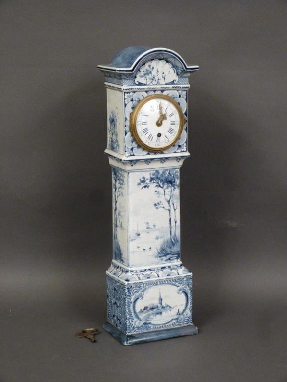 Delft Table Top Size Tall Case Clock