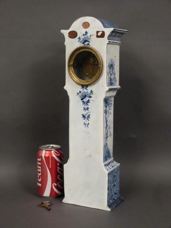 Delft Table Top Size Tall Case Clock - 4