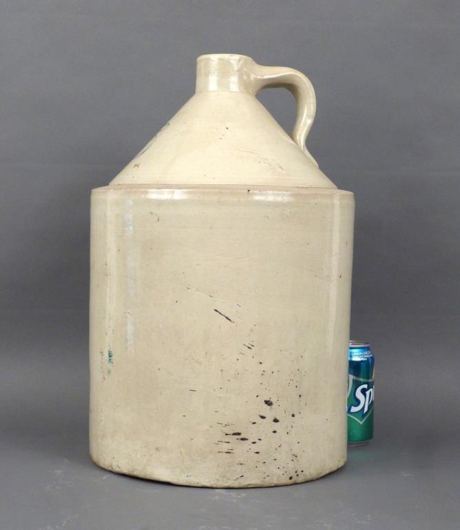 Large American Glazed Stone Jug - 2