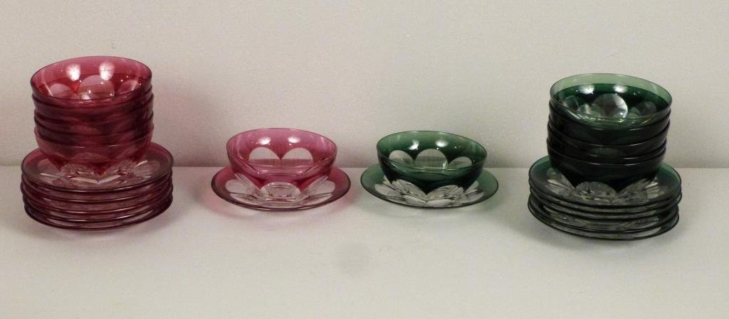 12 Piece Finger Bowl and Under Plate Set