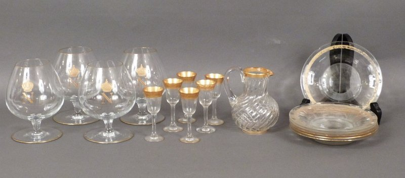 Assorted Gilt Glass Lot