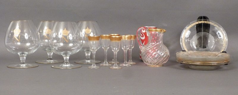 Assorted Gilt Glass Lot - 5
