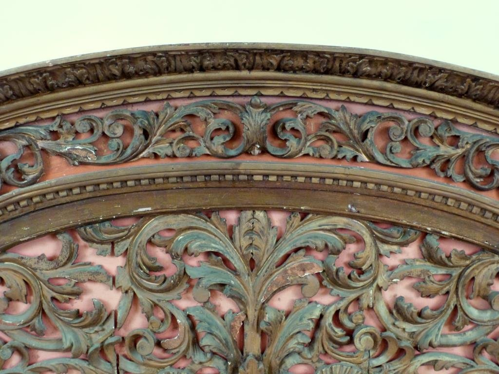 Antique English Carved Panel / Headboard - 3