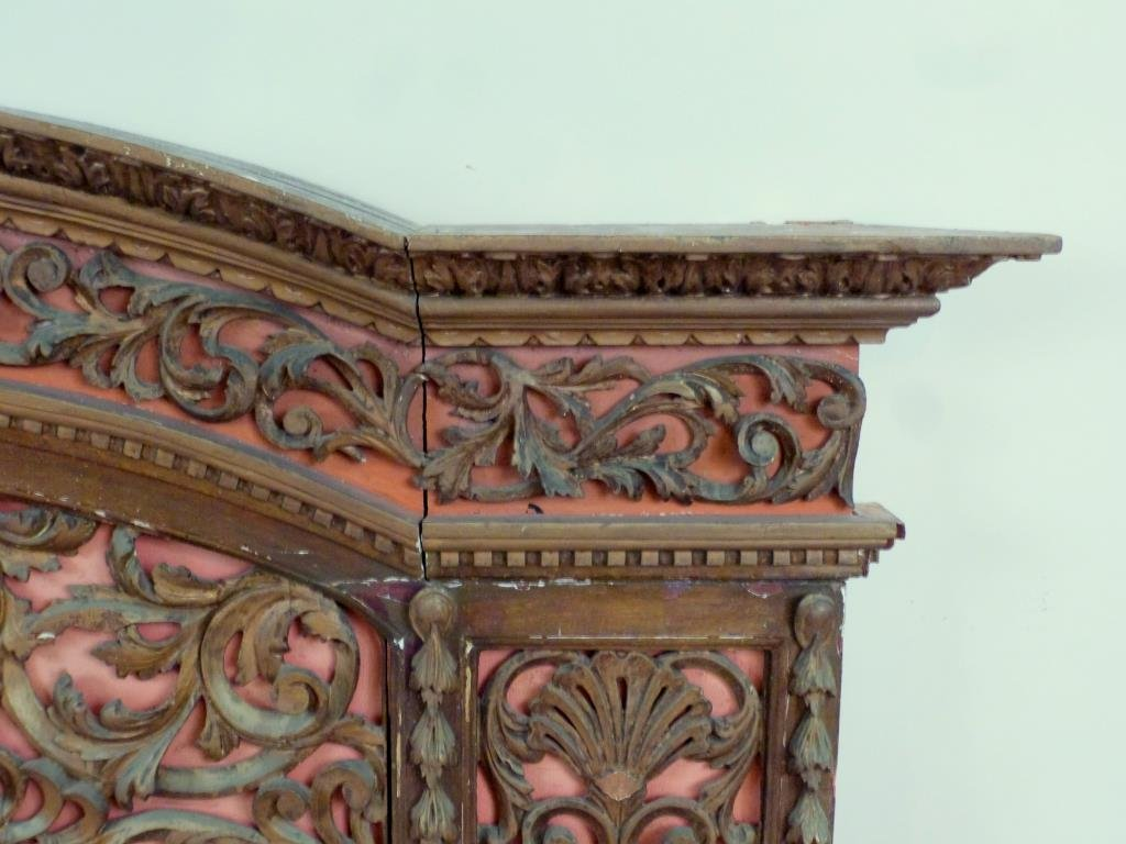 Antique English Carved Panel / Headboard - 4