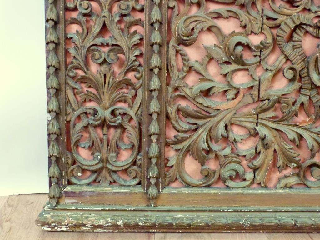 Antique English Carved Panel / Headboard - 5