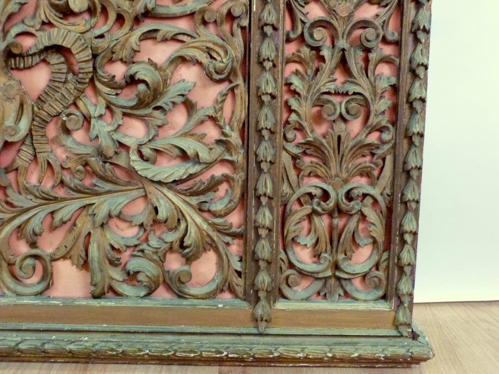Antique English Carved Panel / Headboard - 7