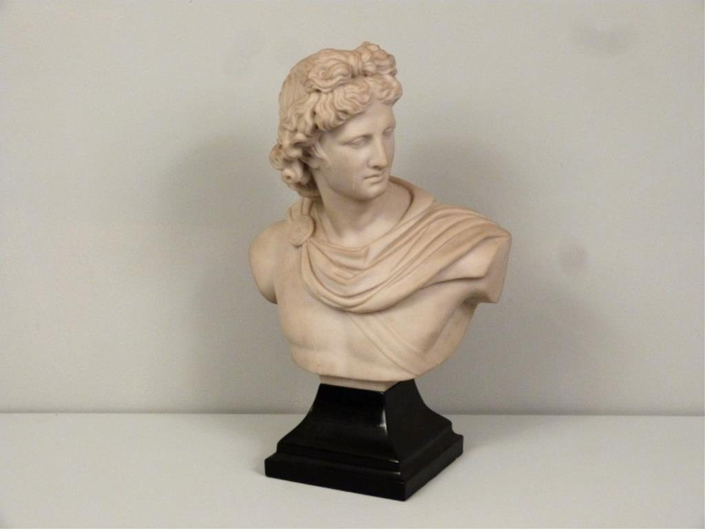 Resin Bust of Apollo by Austin Sculpture