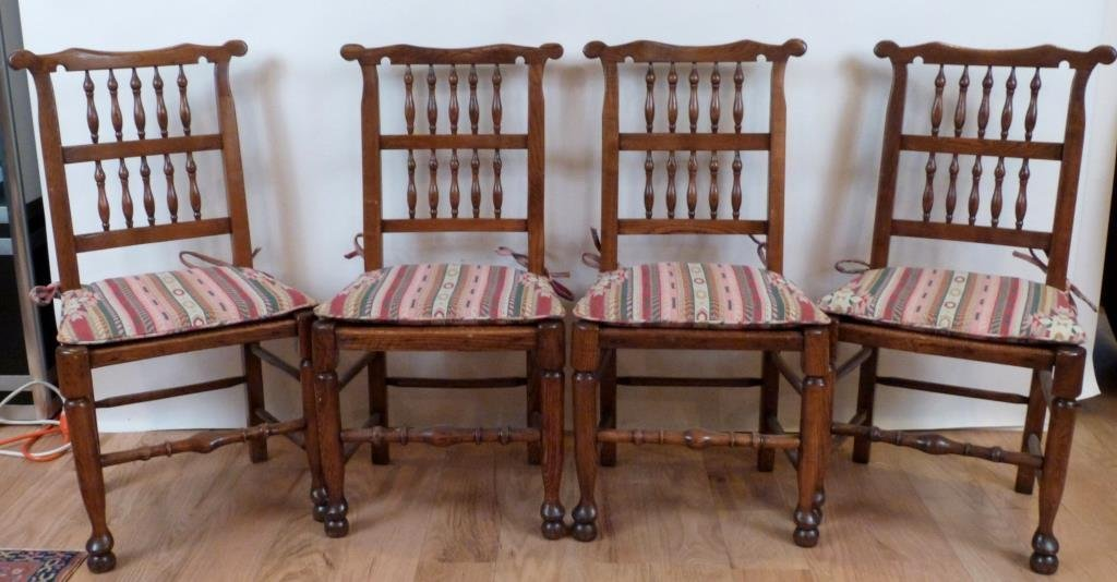 Set of 4 French Provincial Style Side Chairs