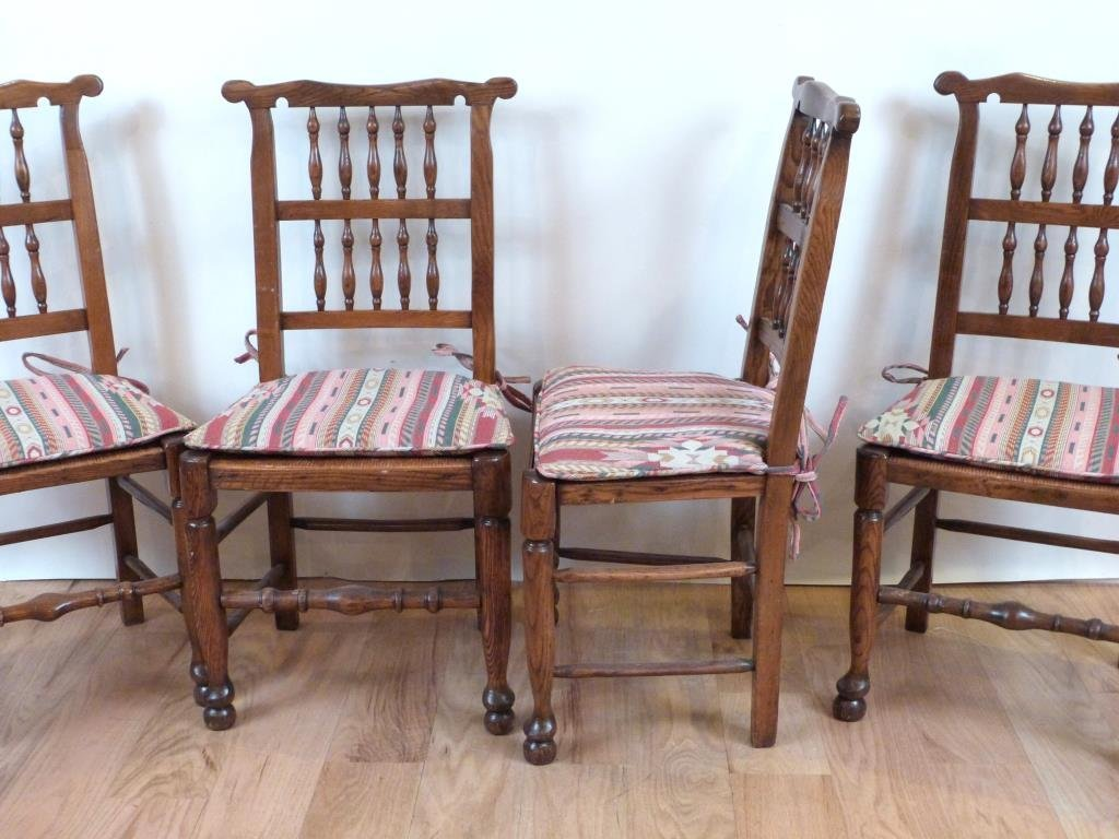 Set of 4 French Provincial Style Side Chairs - 4