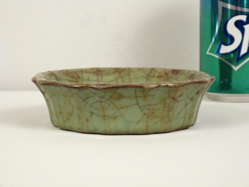 Chinese Celadon Scalloped Dish - 2