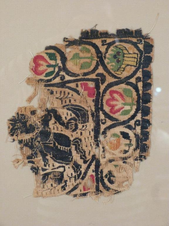 3 Framed Coptic Textile Fragments - 4