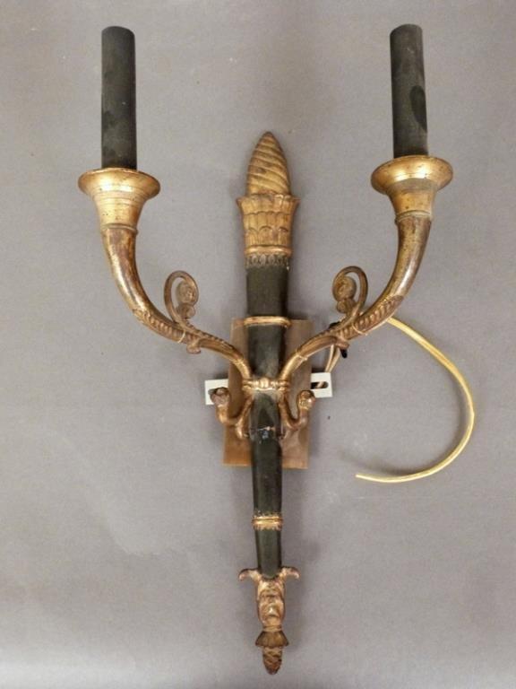 Empire Style Single Bronze Sconce