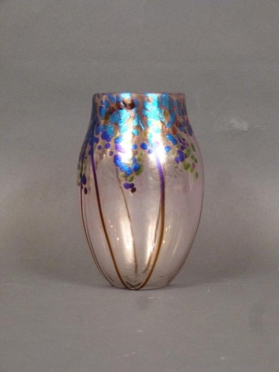 Norman Stuart Clarke Art Glass Vase