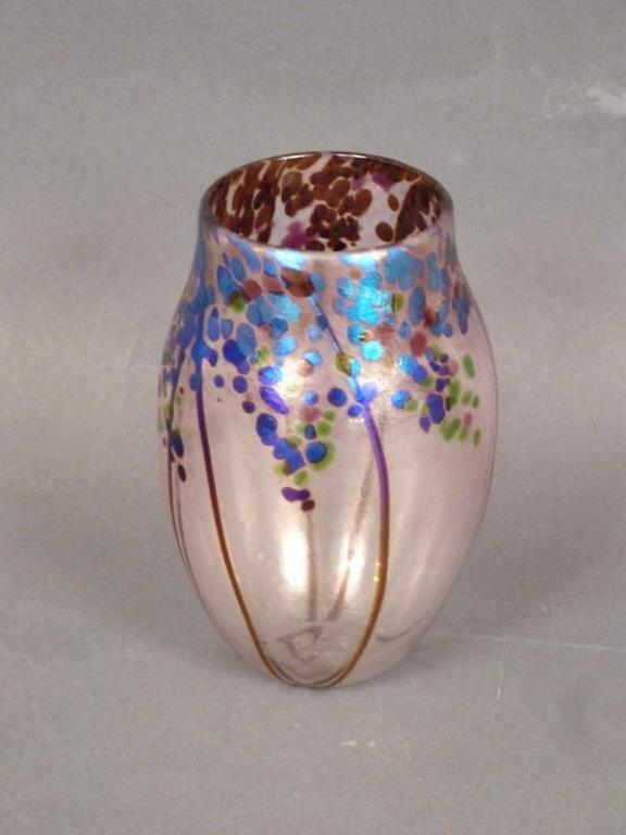 Norman Stuart Clarke Art Glass Vase - 2