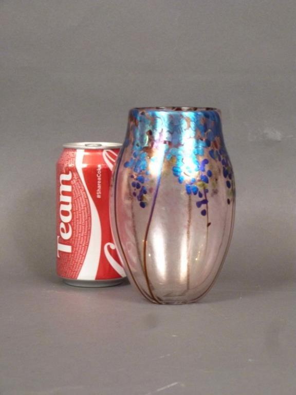 Norman Stuart Clarke Art Glass Vase - 3