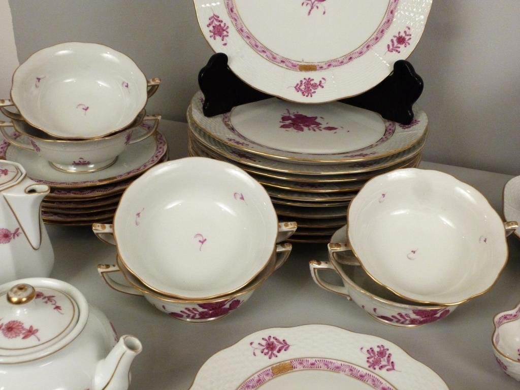 Large Herend Porcelain Dinner Set - 4