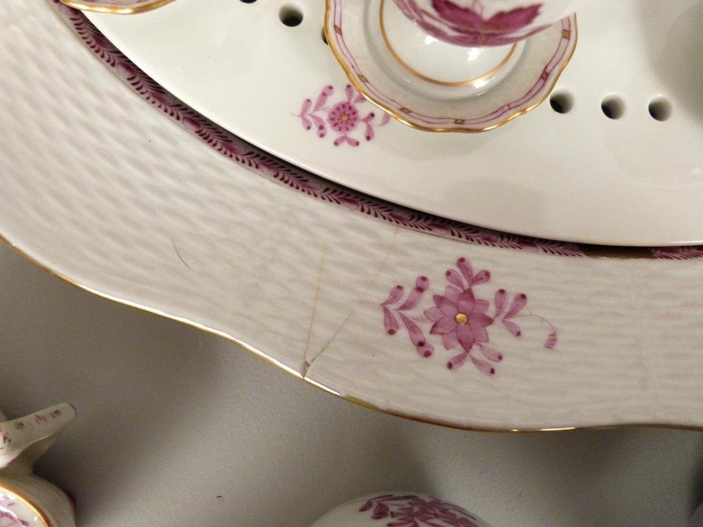 Large Herend Porcelain Dinner Set - 6