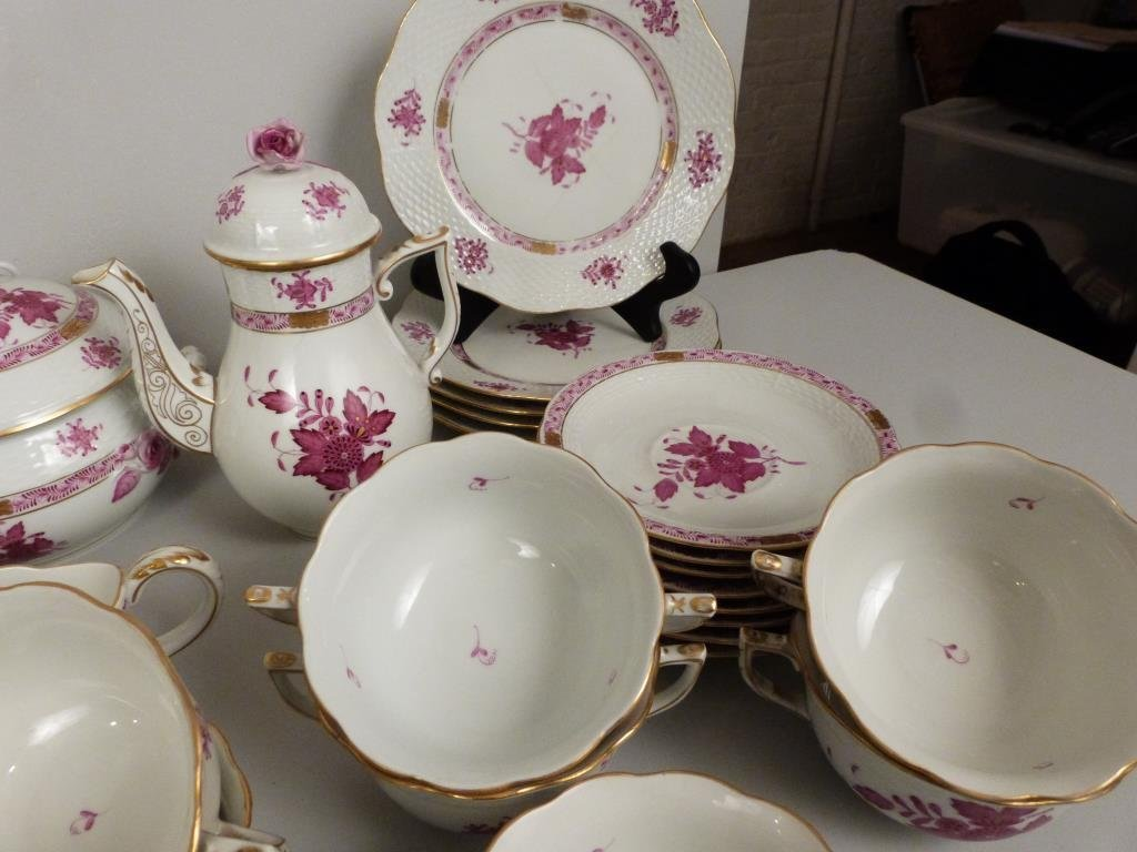 Large Herend Porcelain Dinner Set - 8