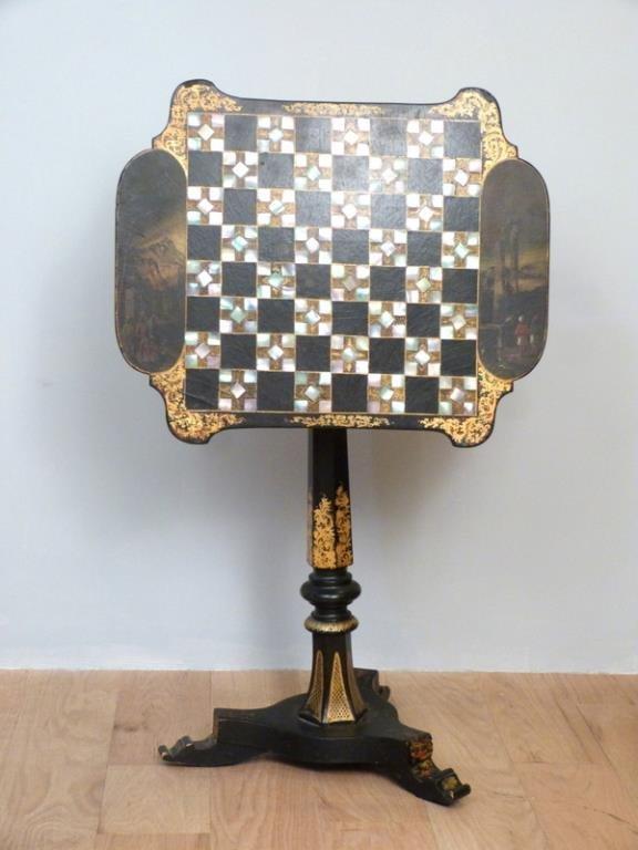 Victorian Tilt Top Games Table