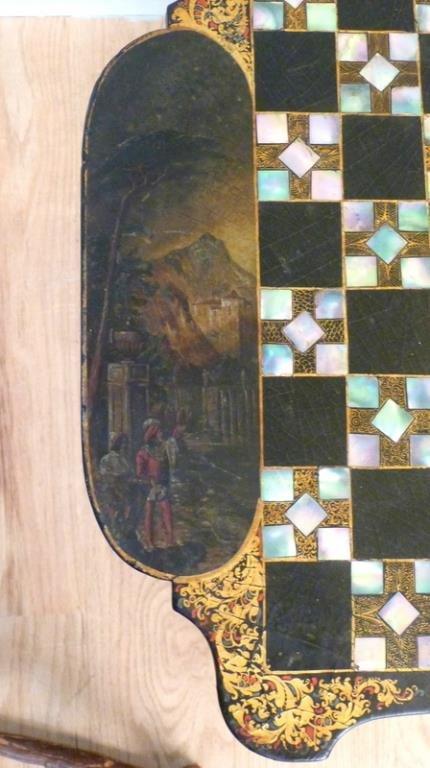 Victorian Tilt Top Games Table - 4
