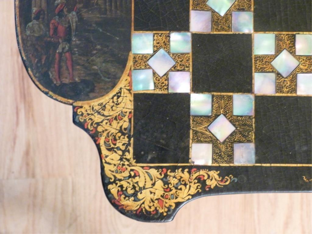 Victorian Tilt Top Games Table - 5