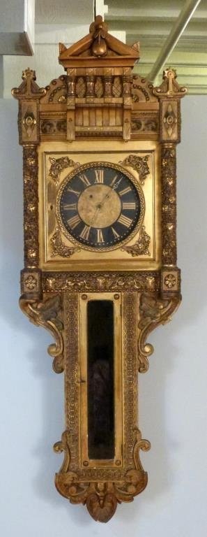 Neoclassical Gilt Framed Wall Clock