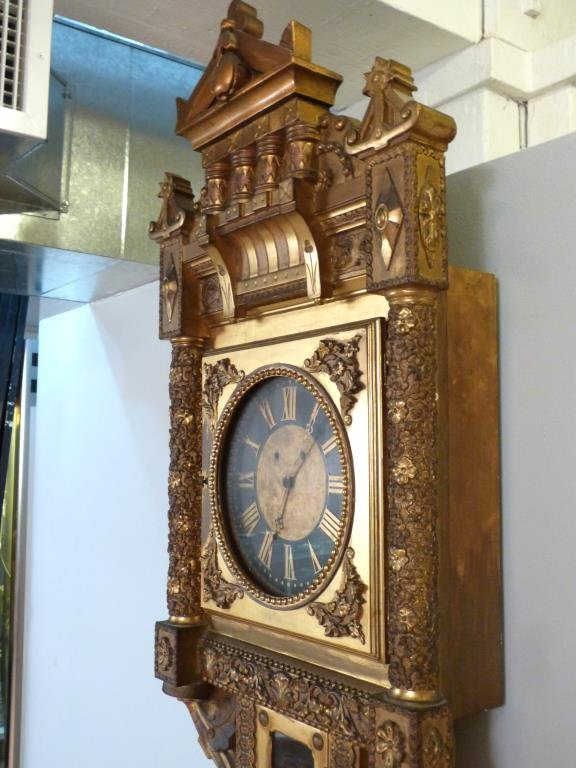 Neoclassical Gilt Framed Wall Clock - 5