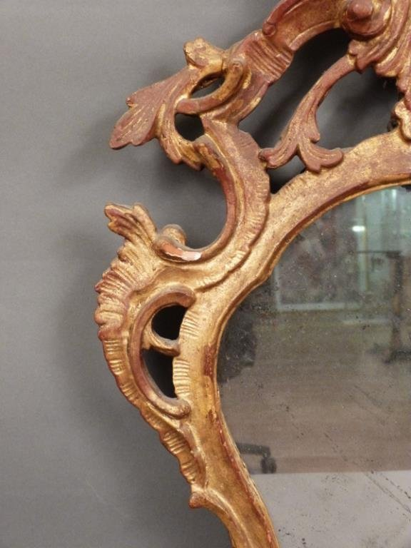 Antique English Carved Mirror - 3