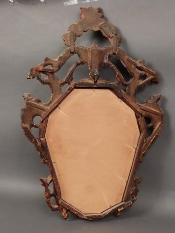 Antique English Carved Mirror - 5