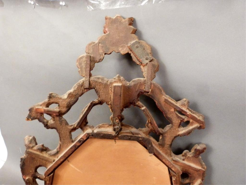 Antique English Carved Mirror - 6