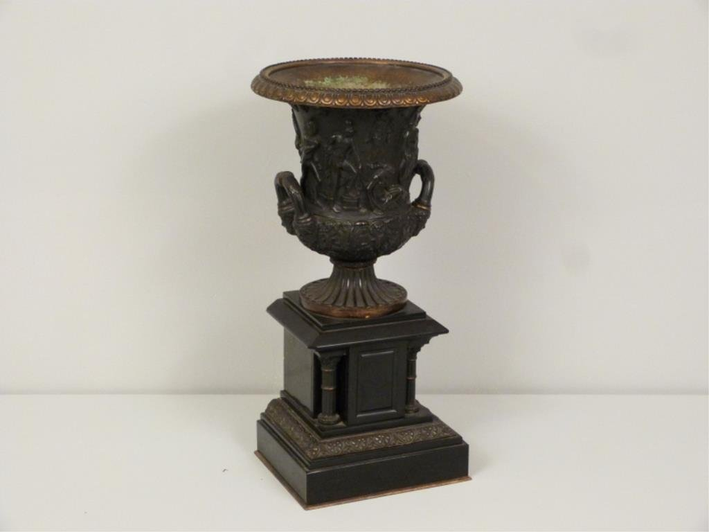 Late Empire Bronze and Marble Urn