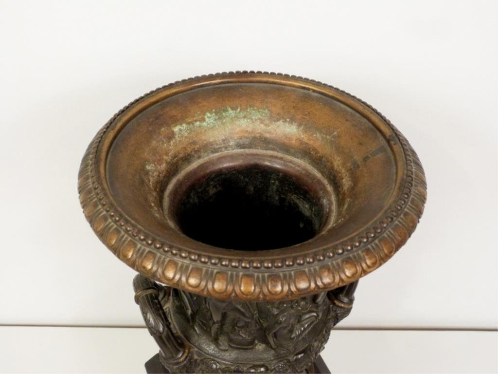 Late Empire Bronze and Marble Urn - 2