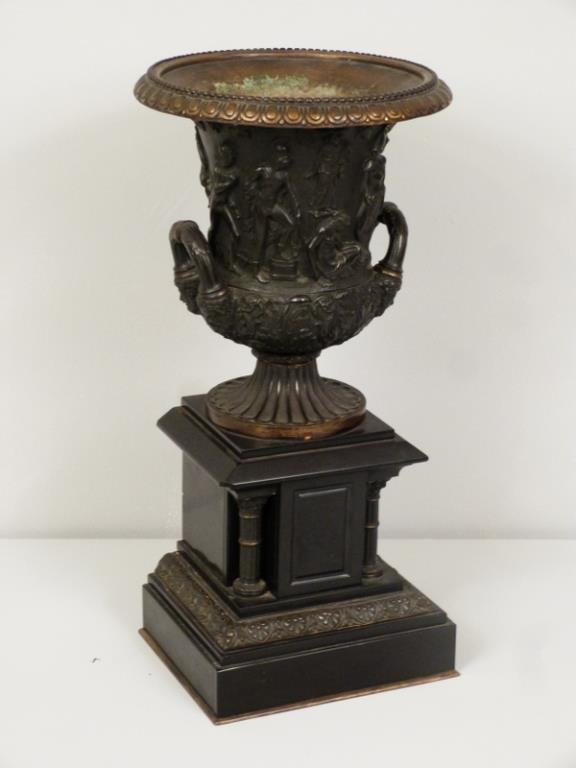 Late Empire Bronze and Marble Urn - 3