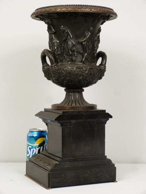 Late Empire Bronze and Marble Urn - 8