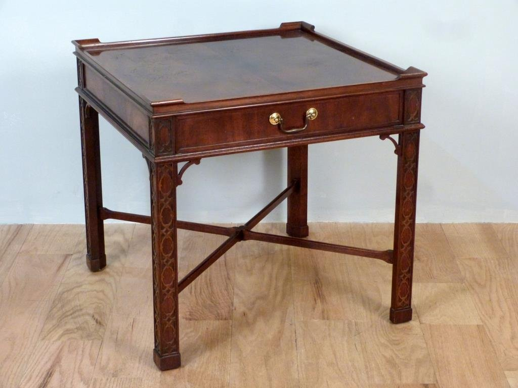Baker Chippendale Style Lamp Table