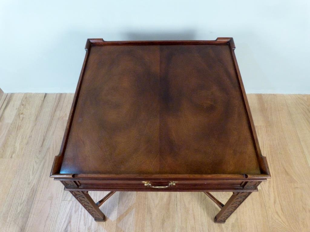 Baker Chippendale Style Lamp Table - 2