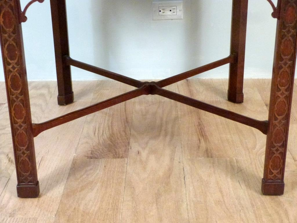 Baker Chippendale Style Lamp Table - 4