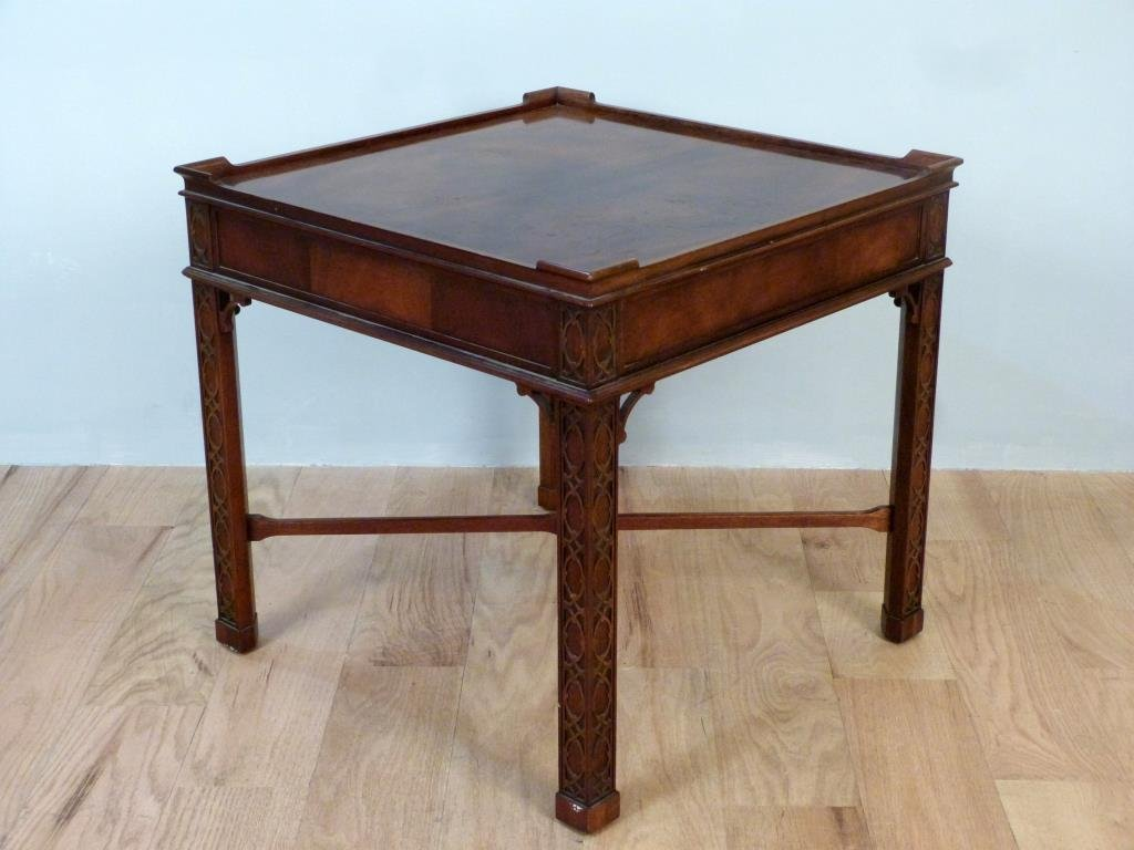 Baker Chippendale Style Lamp Table - 5