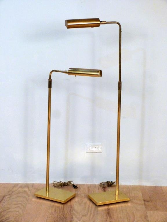 Pair Koch and Lowy Brass Floor Lamps